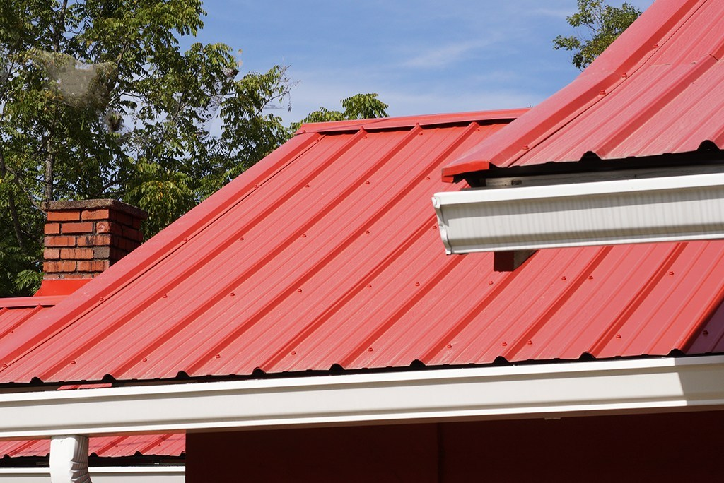 red metal roof 1 - About Pitched Roofs With Metal Roofing?